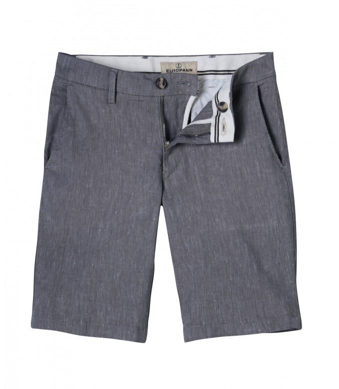 TURNER - Bermuda slim fit lin chiné, marine