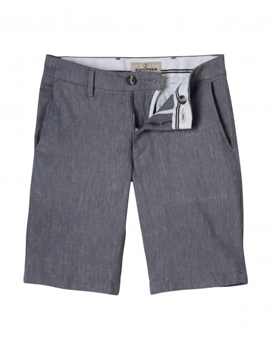 NAVY BLUE SLIM FIT LINEN-BLEND BERMUDAS TURNER