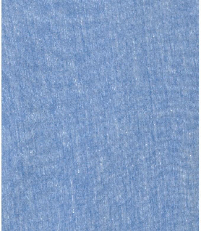 GORDON - Pantalon chino slim fit lin chiné, ciel
