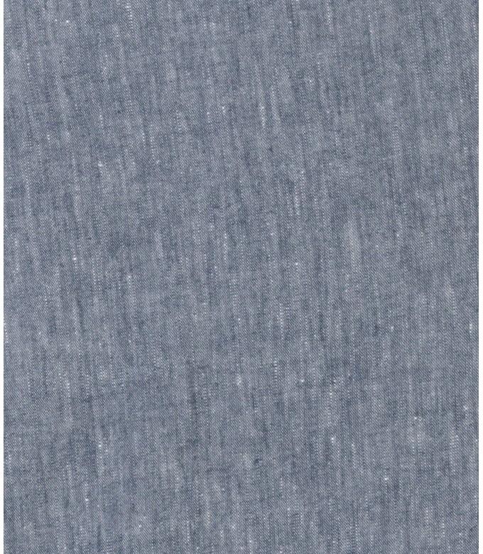 GORDON -  Navy blue linen chino pant