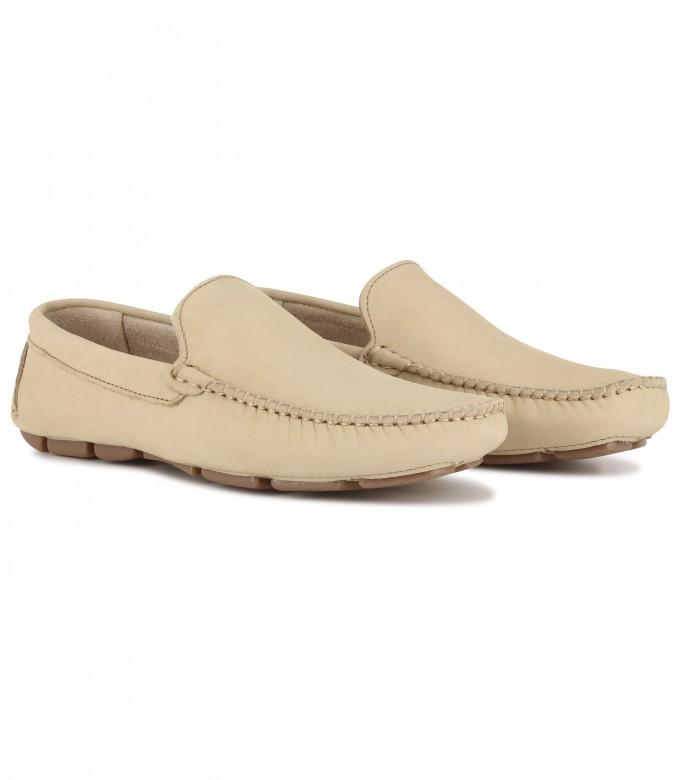 MONZA - Beige nubuck loafers