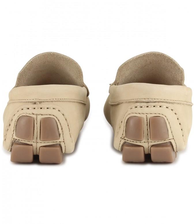 MONZA - Nubuck loafers, beige