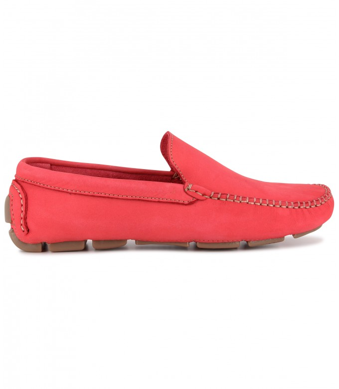 MONZA -  Nubuck loafers, red