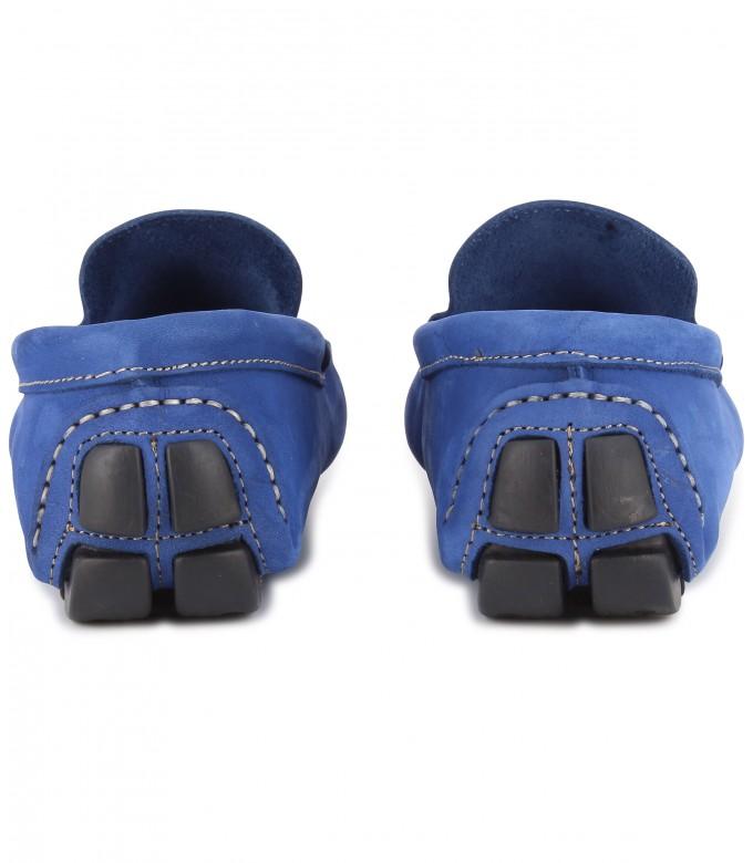 NUBUCK LOAFERS MONZA ROYAL BLUE