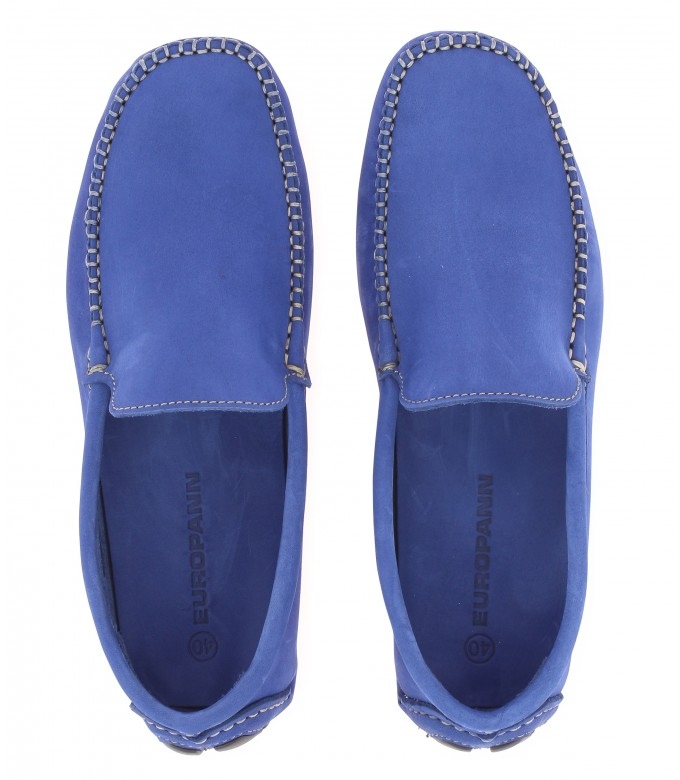MONZA - Royal blue nubuck loafers