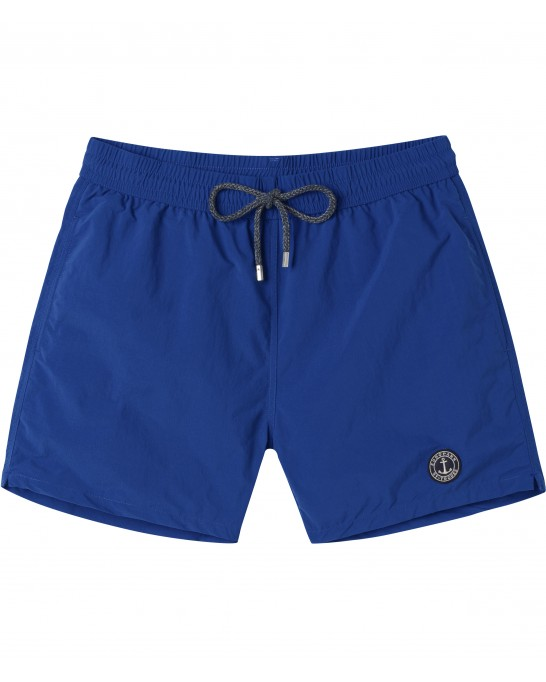 SOFT -  Plain color slim fit swimshorts , ink blue