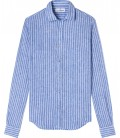 LINEN STRIPED SHIRT BLUE TENNIS