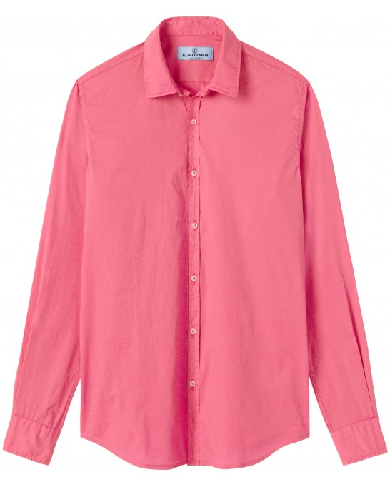 VARDY - Casual cotton-voile shirt, fuchsia