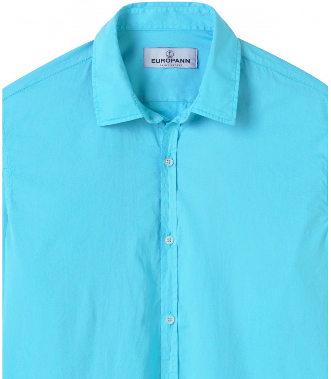CASUAL TURQUOISE COTTON VOILE SHIRT VARDY