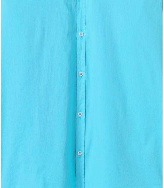 VARDY - Chemise en voile de coton unie décontractée, turquoise