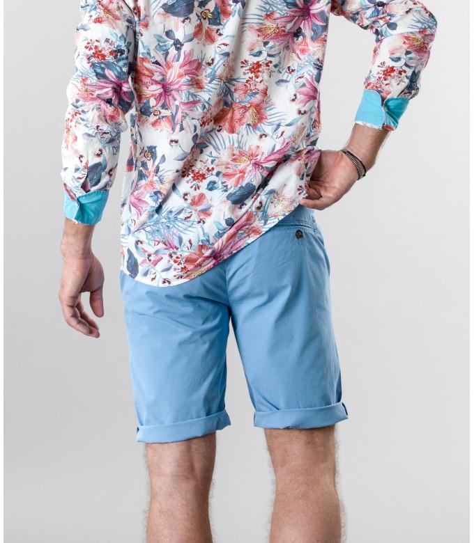TEXAS - Slim fit  Chino Bermudas, ocean blue
