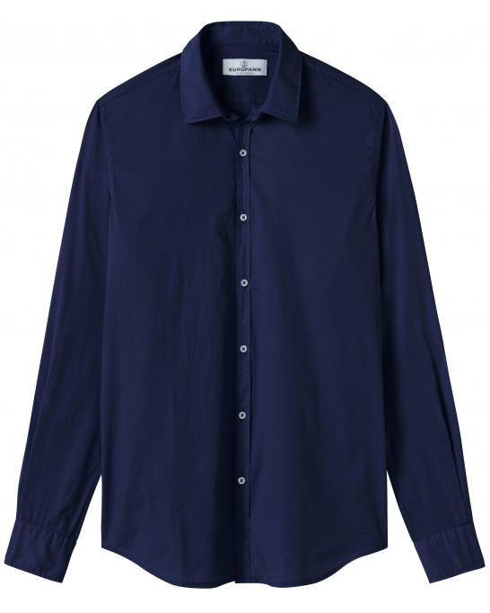 VARDY - Casual cotton-voile shirt, ink blue