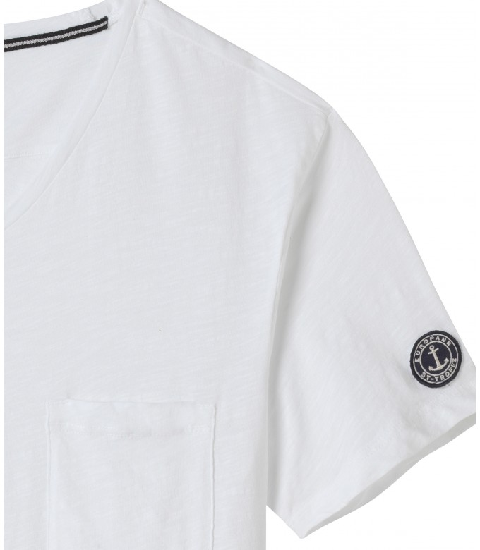 NECK - Cotton v-neck white