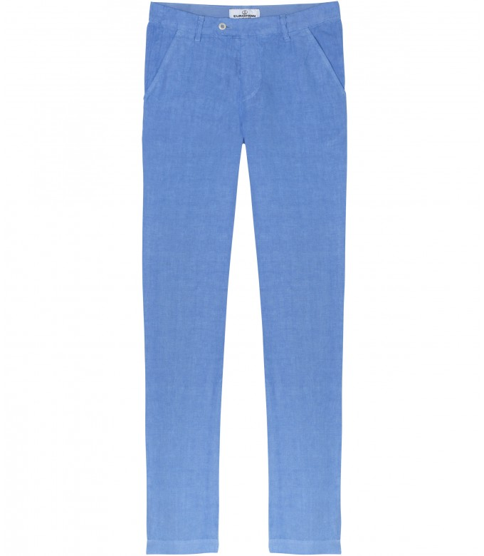 DYLAN - Casual linen pants, ocean blue