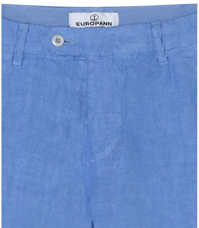 DYLAN - Ocean blue casual linen trouser