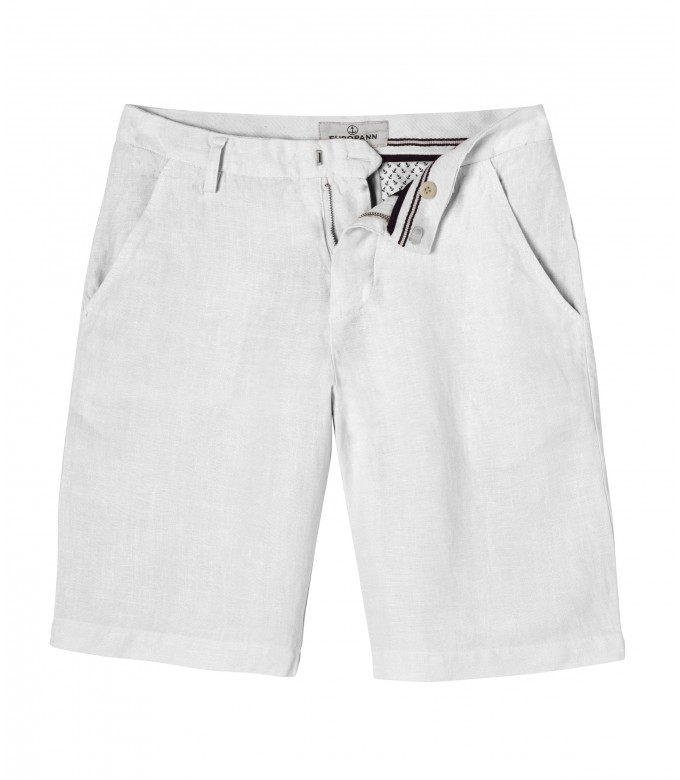 COLORADO - Casual linen bermudas, white