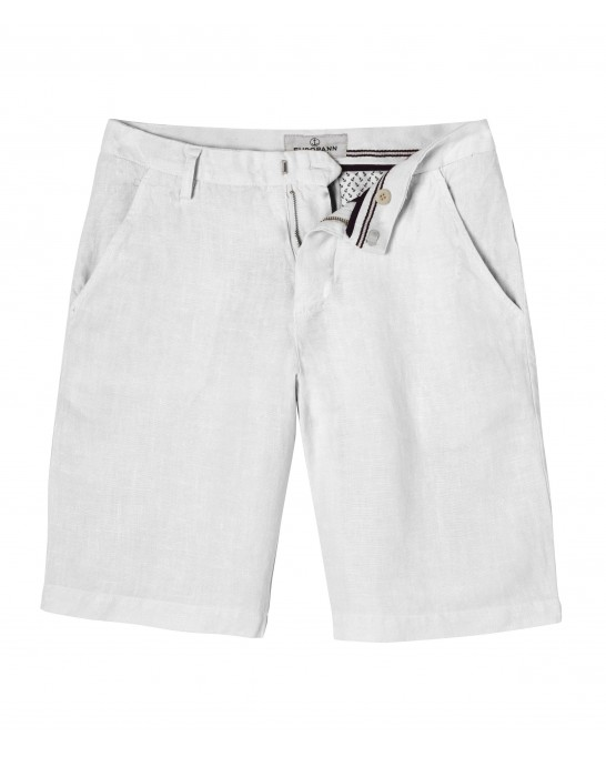 CASUAL WHITE LINEN BERMUDAS COLORADO