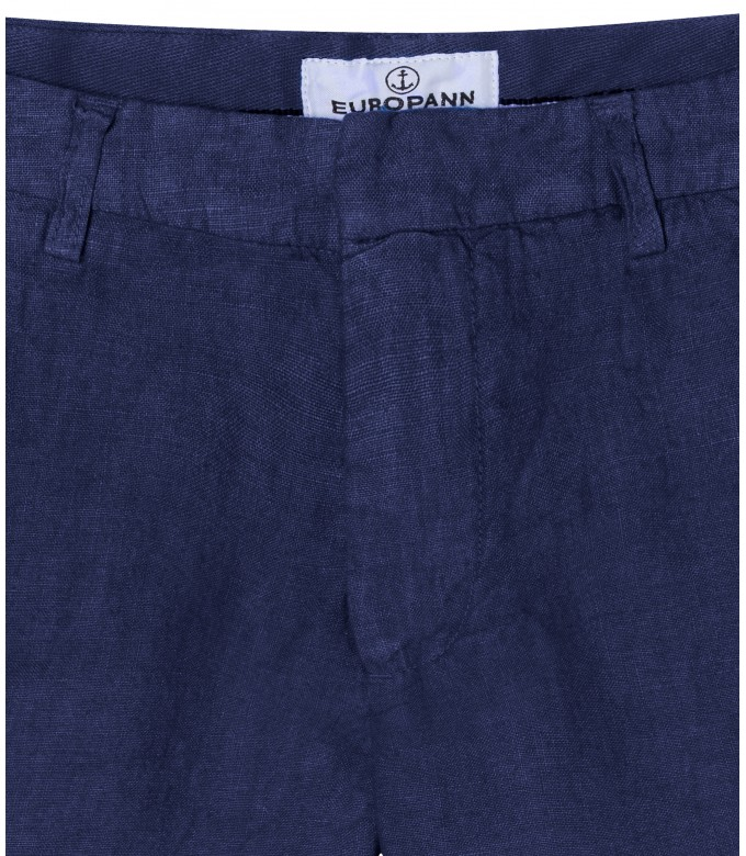 COLORADO - Casual linen bermudas, ink blue