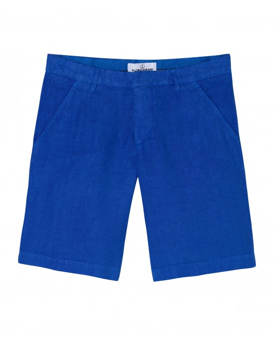 COLORADO - Casual linen bermudas, klein blue