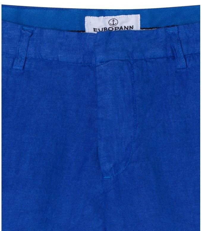 COLORADO - Casual klein blue linen bermuda