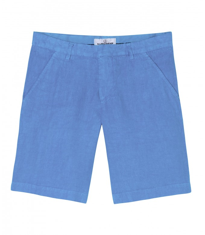 COLORADO - Casual linen bermudas, ocean blue