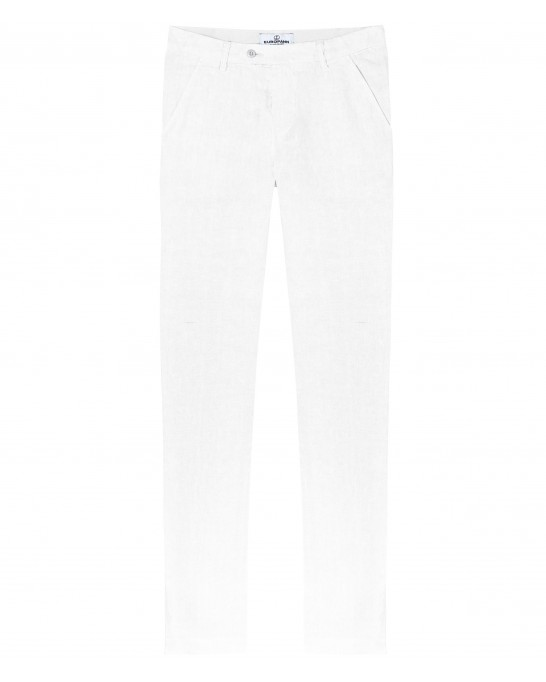 DYLAN - Casual linen pants, white