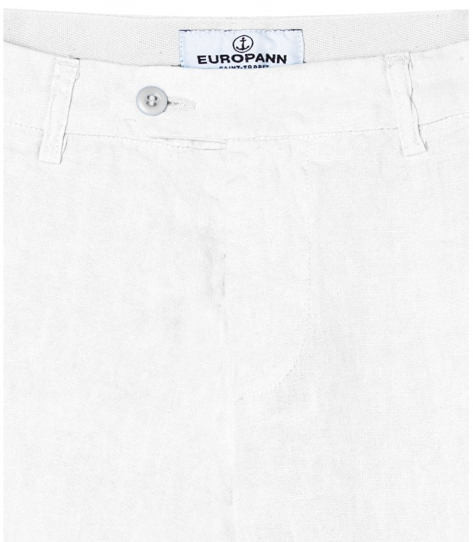 DYLAN - Casual linen trousers, white