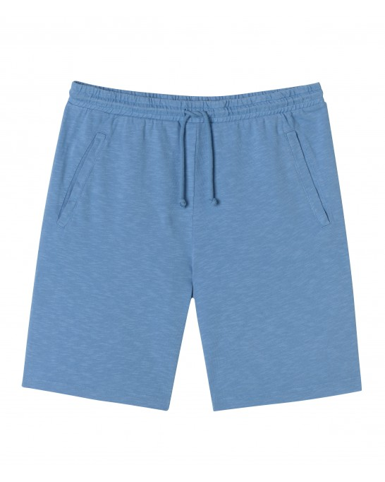 LONDON -  Cotton jersey bermudas, blue ocean