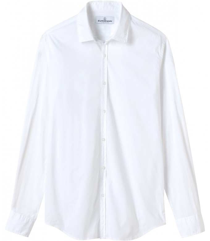 VARDY - Casual cotton-voile shirt, white