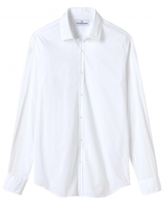 VARDY - Chemise en voile de coton unie décontractée, blanche