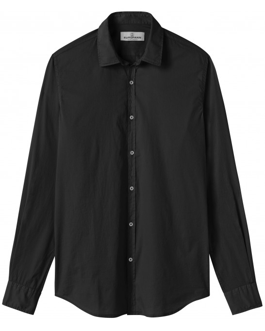 CASUAL BLACK COTTON VOILE SHIRT VARDY