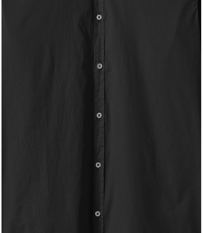 VARDY - Casual cotton-voile shirt, black