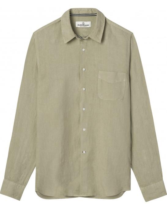 DIVA - Casual linen shirt, beige