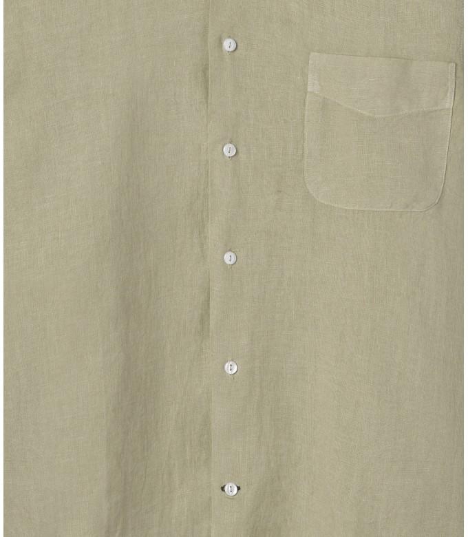 DIVA - Chemise décontractée en  lin, beige