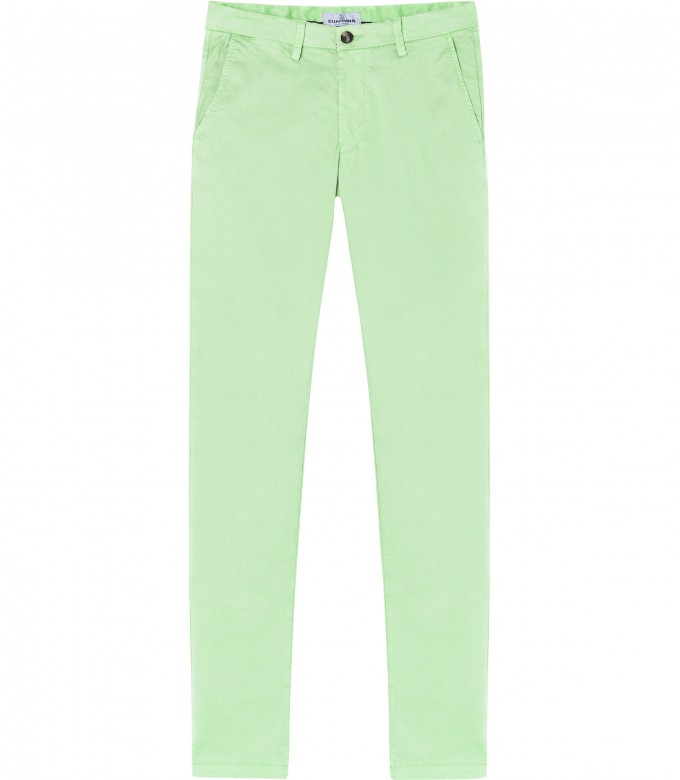 FLASH - Slim fit cotton chinos, anise