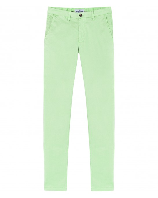 FLASH - Pantalon chino slim, anis