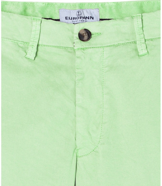 FLASH - Pantalon chino slim, anis
