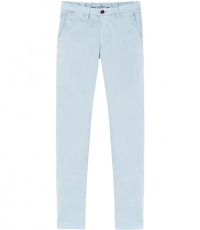 FLASH - Pantalon chino slim, ciel