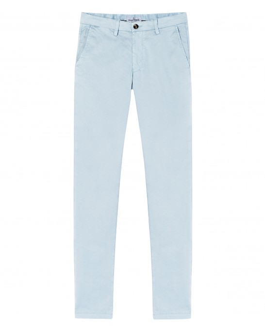 FLASH - Slim fit cotton chinos, light blue