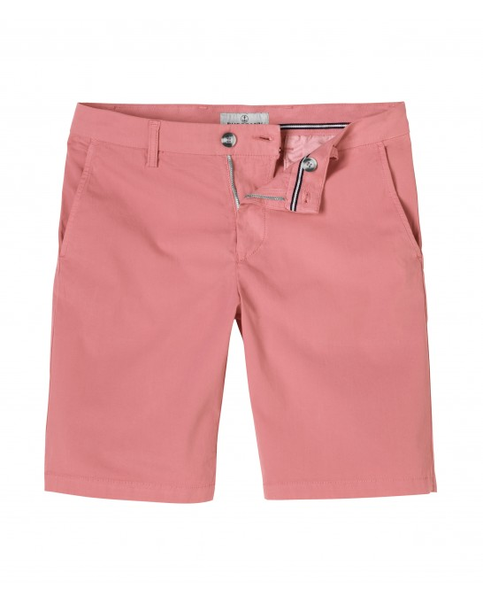 TEXAS - Bermuda chino slim uni, rose