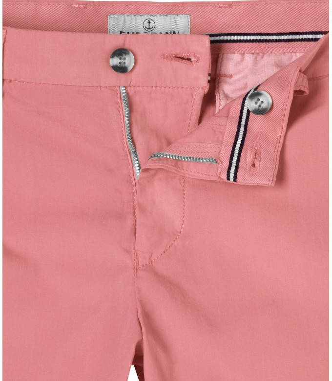 PINK SLIM FIT COTTON BERMUDAS TEXAS