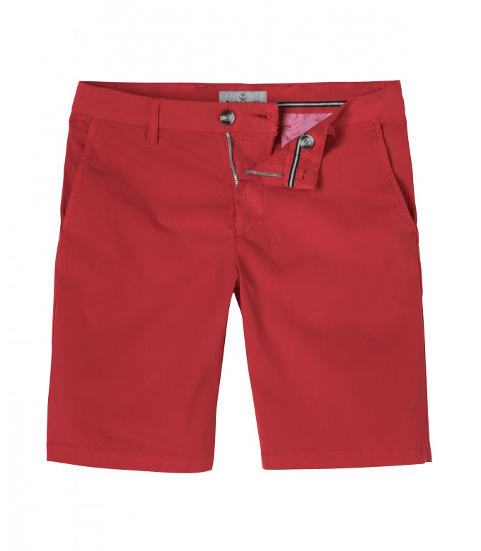TEXAS - Slim fit Chino Bermudas, red
