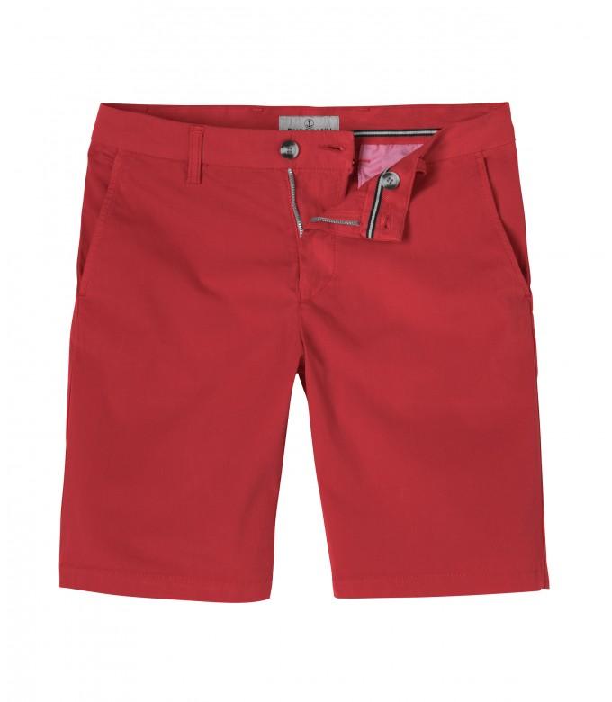 TEXAS - Slim fit Chino Bermudas, red