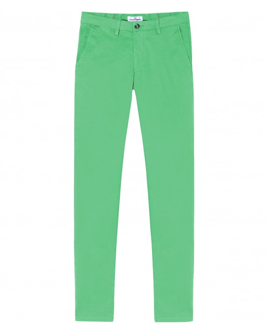 FLASH - Pantalon chino slim, vert