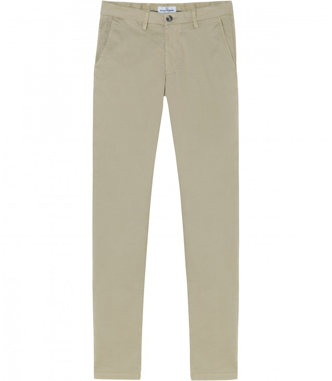 FLASH - Slim fit cotton chinos trousers, camel