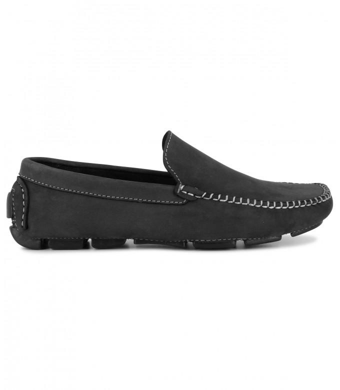 MONZA -  Nubuck loafers, black