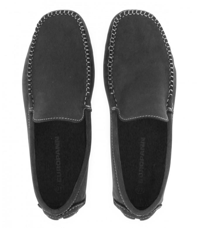 MONZA - Black nubuck loafers