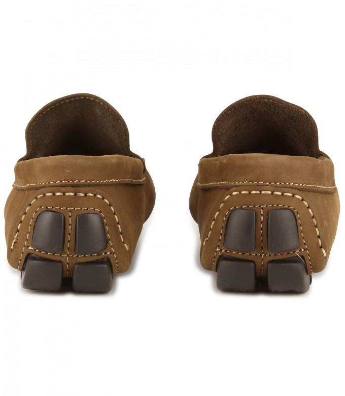 MONZA - Cognac nubuck loafers
