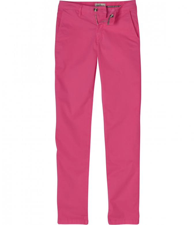 FLASH - Slim fit cotton chinos trousers, fushia