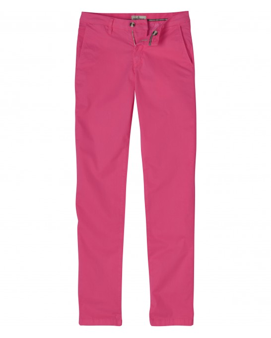 FLASH - Pantalon chino coupe ajustée, fushia